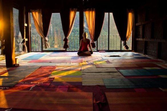 Casas de campo onde pode praticar yoga
